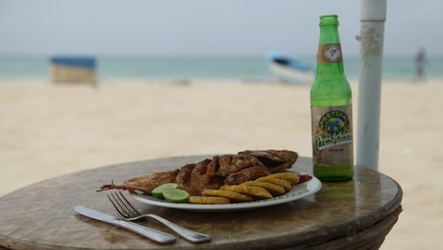 Presidente Beer On Bavaro Beach Dominican Republic