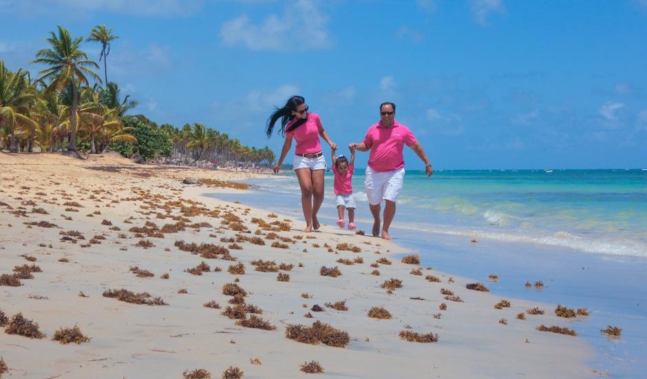 Scott Medina And Family On Dominican Republic Beach